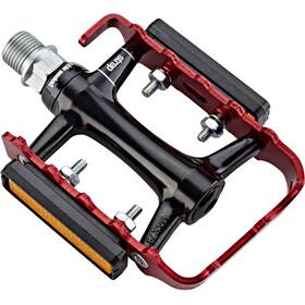 NC-17 Trekking Pro Pedały aluminium, black/red